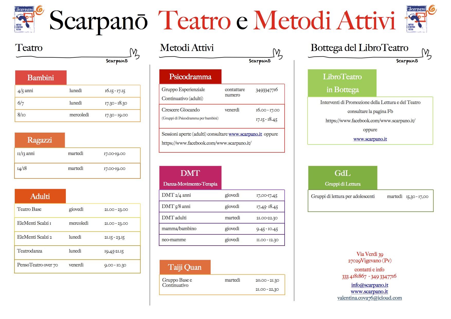 Calendario Attivita.Calendario Attivita Scarpanō 2017 18 Scarpanō Teatro E
